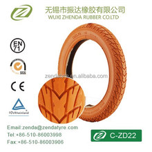 14 inch ZD22 kids bicycle tyre in high quality eco-friendly
