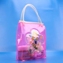 birthday pink gift bags for girl packing cute doll with handle