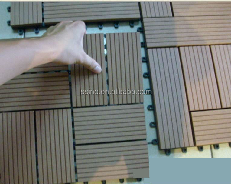 Natural timber appearance wood look non slip interlocking for Outdoor timber floor decking