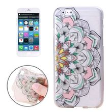 Peacock Flower Design Printed Images Transparent TPU Case for iPhone 6 Plus 5.5 inch