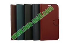 High Quality First Genuine Leather Cover For Samsung Galaxy S4 SIV I9500 with Card Slots And Magnetic Flip Stand