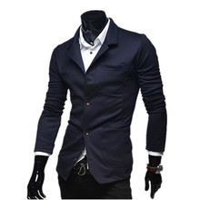 Hot sale solid 4 size M/L/XL/XXL for choice British and American style new design men navy blazer suit