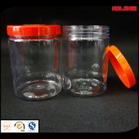 clear pet food bottle with plastic cap,500ml