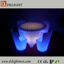 New products outdoor ip65 glowing 16 color wireless control model dining tables