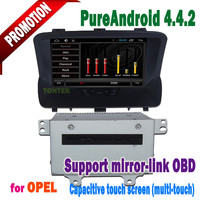 android 4.4.2 touch screen 3g/wifi bluetooth mirror-link +hotspot+DVD/radio with car gps navigation for opel mokka/mp3
