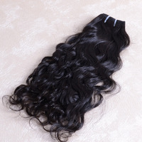 Premium No mixed tangle free full cuticle end Natural Wave 100 remy 3 packs 16inch virgin indian human hair