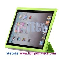 Book Style With Hexagon Pattern Stand PU Smart Cover For Ipad 3 Case,Stand Leather Case For New Ipad