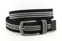 high quality stripe pattern webbing belt for men YJ-K0147