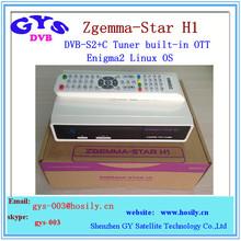 Enigma2 Zgemma -tar H1 HD satellite tv receiver DVBS2+C Tuner built-in OTT zgemma-star h1 sat decoder with internet connection