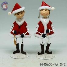 X'mas Figurine boy and girl home decoration