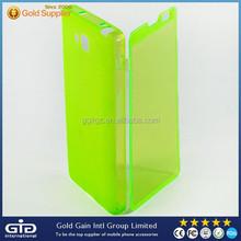 Hot soft flip case for lg optimus l9 ii d605 view window