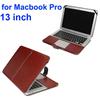 Hot Sale Crazy Horse Texture Flip PU Leather Case for Macbook Pro 13
