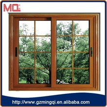 MQ brand aluminum alloy horizontal sliding window with grill design