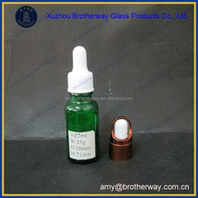 20ml green small essential oil glass bottle eliquids glass factory in china