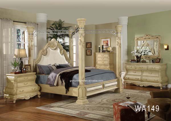 Di lusso regale mobili camera da letto bianco anticoin difficoltà ...