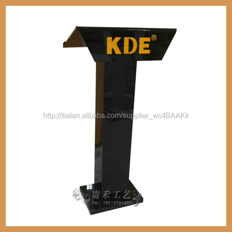 Colore nero acrilico e plexiglass leggio/podio YZ-0053 chiesa pulpito