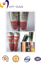 diameter 52mm high pressure empty printing aerosol tin can insect killer spray can
