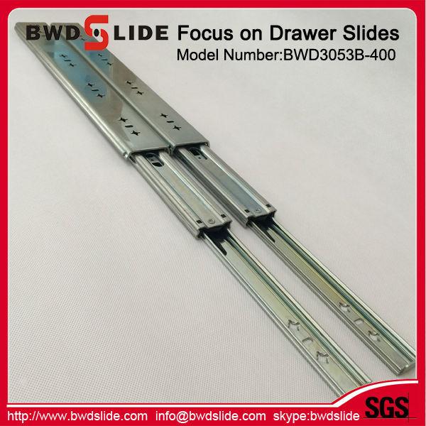 Bottom Heavy Duty Drawer Slides : Full extension bottom ball bearing mount drawer slides