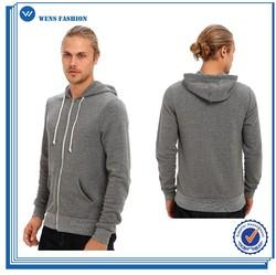Wholesale custom men zip front fleece hoodie