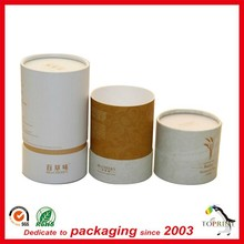 China Eco Friendly Wholesale Gift Biodegradable Cylinder Cardboard paper tube packaging supplies