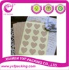 2015 Hot Sale brown kraft large heart stickers