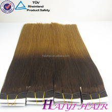 Wholesale price beautiful color no shed no tangle ombre color human hair weft