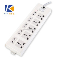 10 Outlet Universal Power Extension Cord Socket With Switch