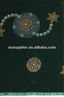 nigeria velvet lace crystal beaded lace trim for clothing