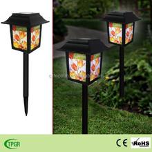 Chinese plastic palace lanterns garden decoration led solar light