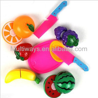 mini and funny plastic fruit and vegetable kitchen toy set