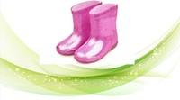 glitter rain boots clear color girls plastic boot child