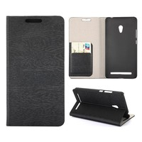 Wood Grain Texture Leather Phone Case for Asus Zenfone 6 Flip Cover