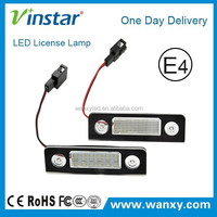 Super power E-mark approved Skoda new led license plate light with canbus