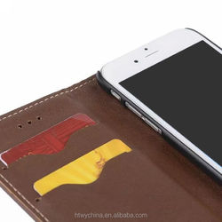 High Quality Luxury Fashion PU Flip Phone Case for iPhone 6s with Card Holder,mobile phone leather case for iPhone 6S