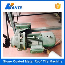 High quality aluminum zinc plate colorful stone coated metal roof tile machine, corrugated carton production line
