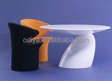 Hot sale modern dining furniture fiberglass dining table chair set