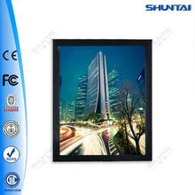 Black frame lighted aluminum magnetic led snap frame