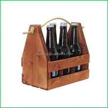 Wooden Beer Carrier, Bottle Crate, Wine bottle Rack Holder