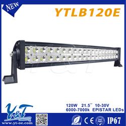 high bright led rigid 120w solar powered led strip lights bar High Power Off Road light