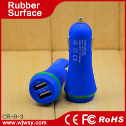 Hot sale 18W 9V 2A double usb car charger with qc 2.0 charger function
