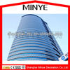 2014 new design tempered glass invisible curtain wall