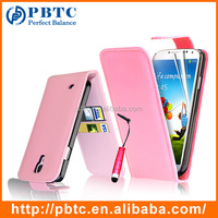 Set Screen Protector Stylus And Case For Samsung Galaxy S4 I9500 , Pink Leather Wallet Case Mobile