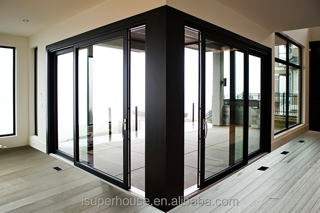 CSA Sliding Doors Interior Room Divider With Double Glass Sound Proof