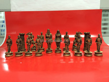 Custom high quality Mental Chess with Fashion Alloy Charm Decorative Chess Piece