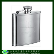 Factory direst sale hip flask with SGS approval stainless stell hip flask with laser logo
