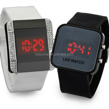 Water resistant digital watch silicone led watches men 2015 fashion design wrist watch