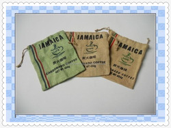 Promotional Mini printed jute bag with drawstring