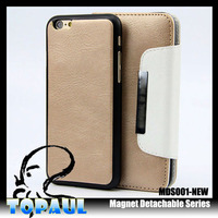 stand wallet cover made in china leather flip for iPhone 6
