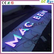 Custom made led frontlit exposed piercing letters led illuminated signs