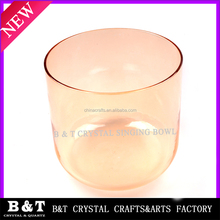 2015 wholesle Seven colorful chakras quartz crystal singing bowls BNTCH 080